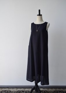 cotton georgette sleevessワンピース