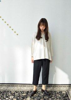 cotton silk henley neck shirt