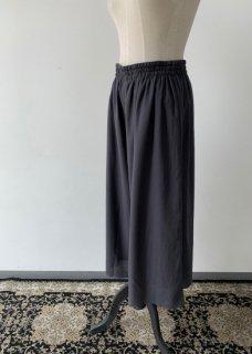 cotton silk gather pants