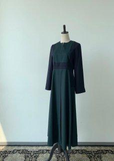 green navy dress