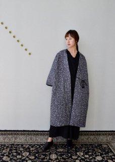 Daisy quilt tona long robe linen