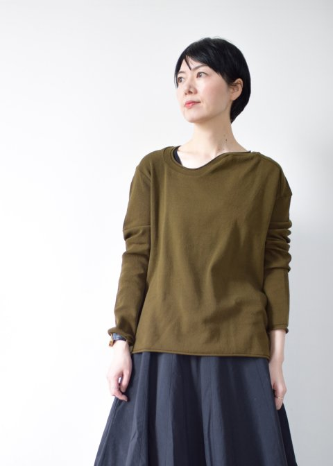 WARPED KNIT-SEW USED NECK
