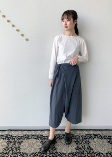 cotton double wrap sarrouel pants