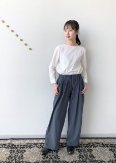 cotton double gather pants