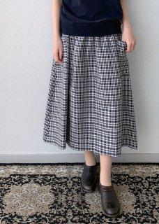 リネンパッチポケットスカート