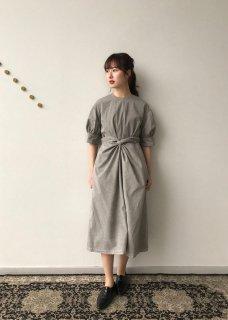 Beautiful organic cotton wrapped dress