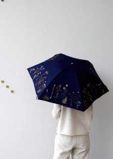 植物刺繍 折りたたみ傘(晴天・雨天兼用)