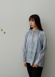 Shadow embroidery blouse