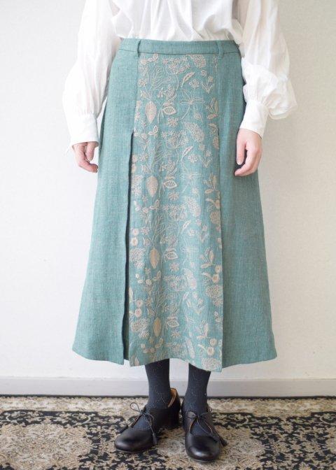 筆記帳刺繍スカート