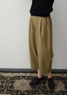 cotton tuck easy pants
