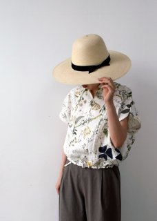 working blouse / weeds print