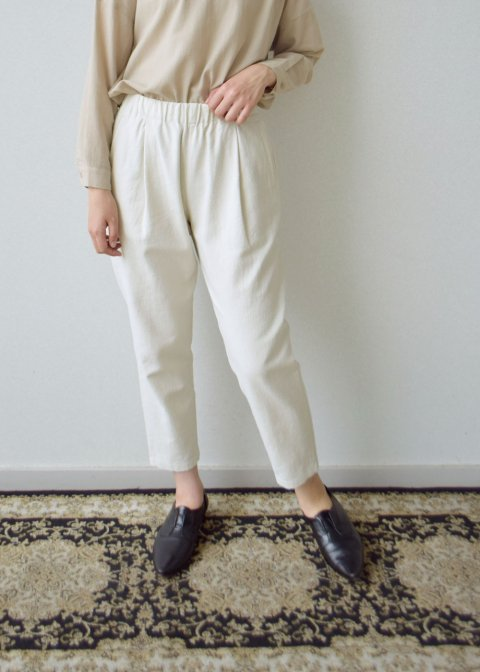 cotton silk easy pants