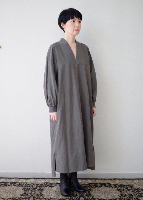 Beautiful Silk cotton v-necked dress