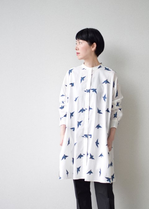 青い鳥/long-shirt