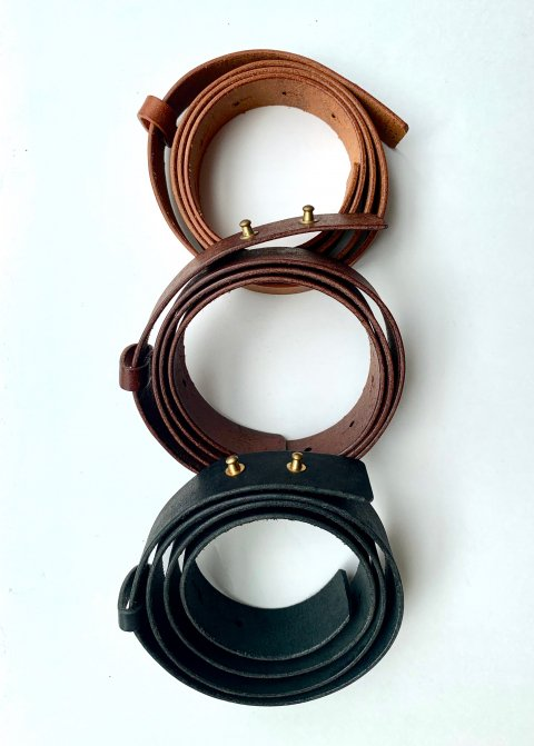 evam eva leather belt(30mm)