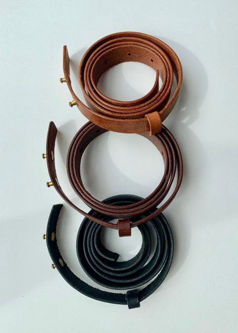 evam eva leather belt(20mm)