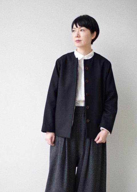 ウールコクーンジャケット / ブラック