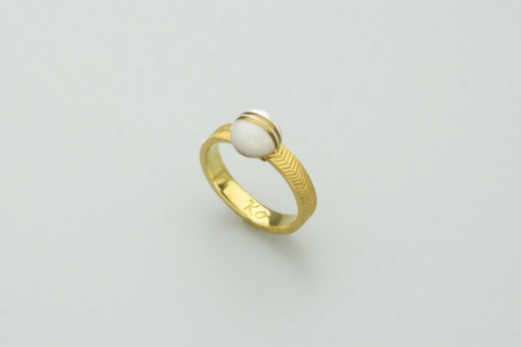 Nagi flat-ring (brass / K18GP)