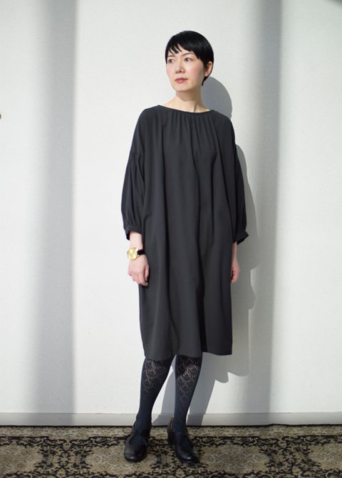 gathered sleeve one-piece