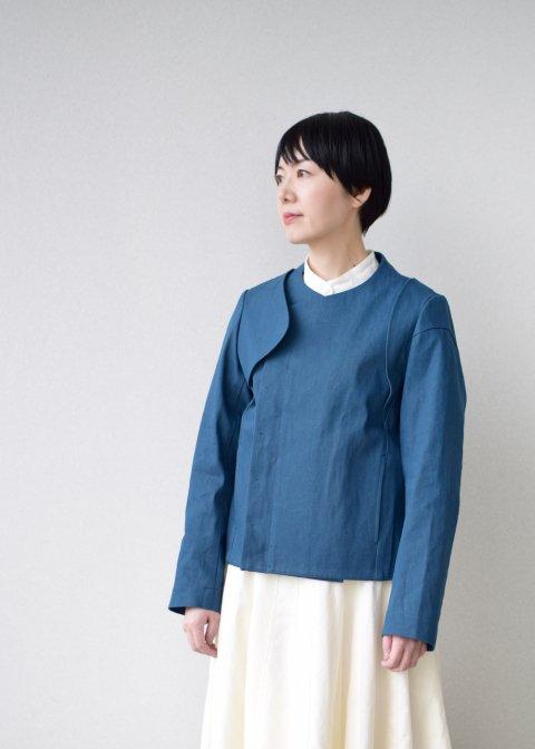 denim asymmetry jacket