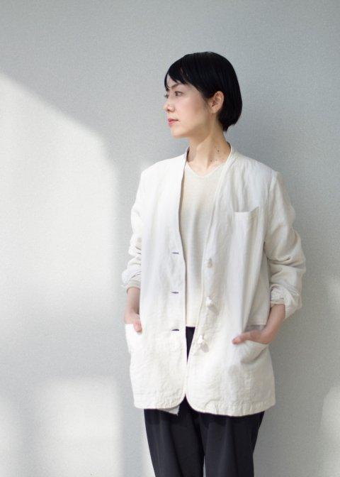 Garment dye linen jacket