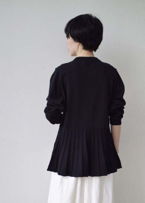 コットンフレアー裾長袖PO