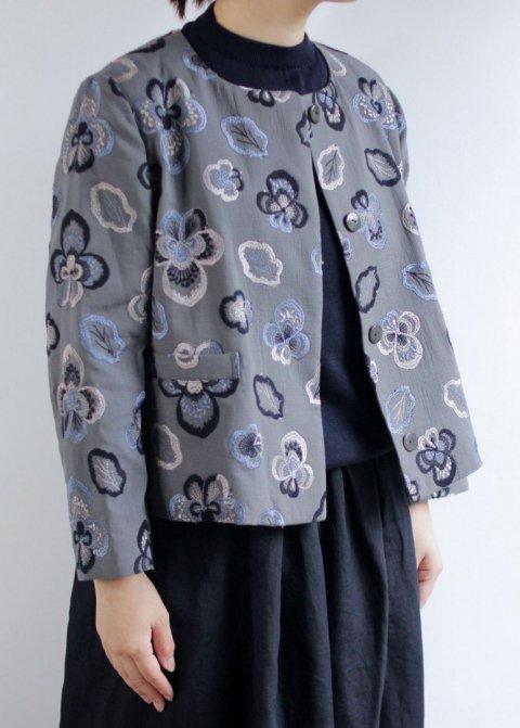 ビオラ刺繍ジャケット