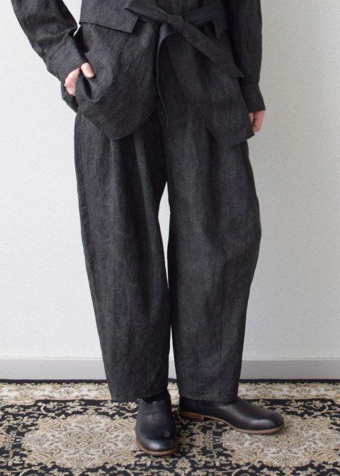Sakurashi trousers(Ash dyeing linen)