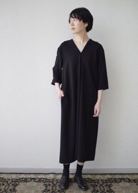 ブラックドレープドレス / ウォッシャブルクロス