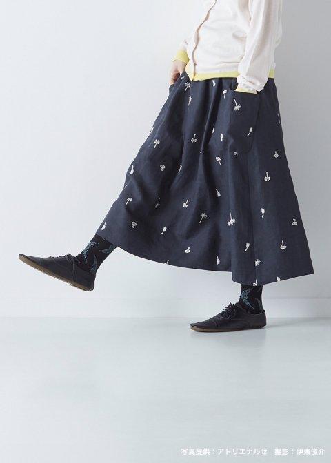 リネン~nohana~パッチポケットスカート