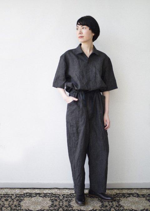 Sakurashi jumpsuit(Ash dyeing linen)