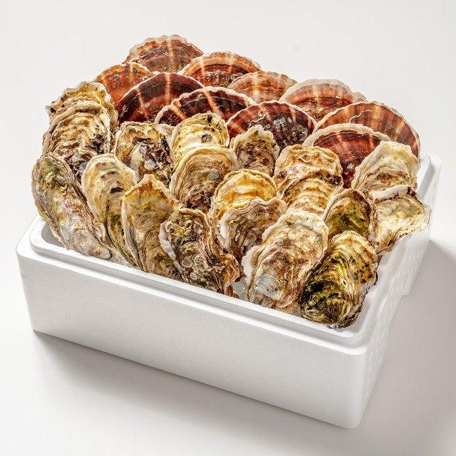 岩手県山田湾産 殻付き牡蠣20コ・帆立10枚セット