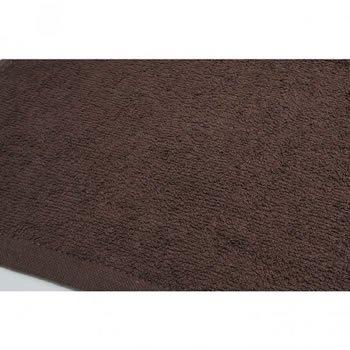 美容室 フェイスタオル 200匁 ブラウン 10枚セット メール便可 無地 薄手