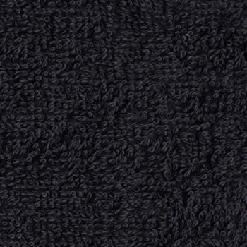 美容室フェイスタオル 250匁 ブラック(黒)12枚セット 無地 カラータオル