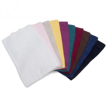 美容サロン用フェイスタオル 250匁 パープル (紫色) 12枚セット 施術用タオル