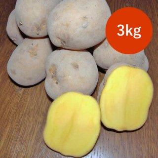 北海道美瑛町産じゃがいも(インカのめざめ/サイズ混合)3kg