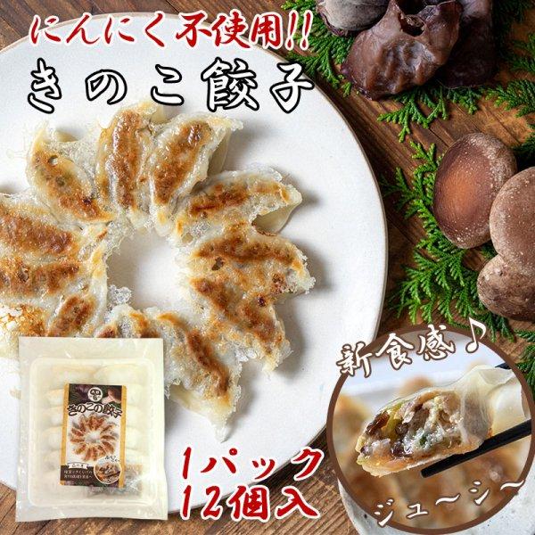 【宮崎産地直送】ヘルシーきのこ餃子12個入×1パック(にんにく不使用) 椎茸 大杉しいたけ園