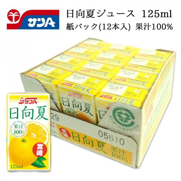 サンA 日向夏ジュース 果汁100% 125ml 紙パック(12本セット) 宮崎県産