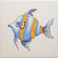 ポルトガルタイル(アズレージョ)【アニマル・ANC5】魚・カラー