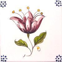 ポルトガルタイル(アズレージョ)【フロール・FLC1】花・カラー