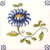 ポルトガルタイル(アズレージョ)【フロール・FLC3】花・カラー