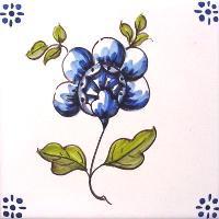 ポルトガルタイル(アズレージョ)【フロール・FLC5】花・カラー