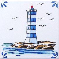 ポルトガルタイル(アズレージョ)【マリティモ・MRC3】灯台・カラー