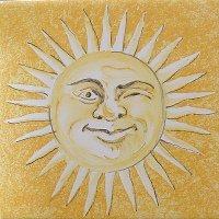 ポルトガルタイル(アズレージョ)【エストレーラ・ESY3】ウィンク太陽・黄色