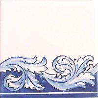 ポルトガルタイル(アズレージョ)【フォーリャ・LE3】青+塗りつぶし