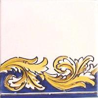 ポルトガルタイル(アズレージョ)【フォーリャ・LE4】黄色+塗りつぶし