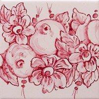 ポルトガルタイル(アズレージョ)【グリナルダ・GRI2】ピンク