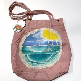 aloha コーデュロイバッグSサイズ ピンク