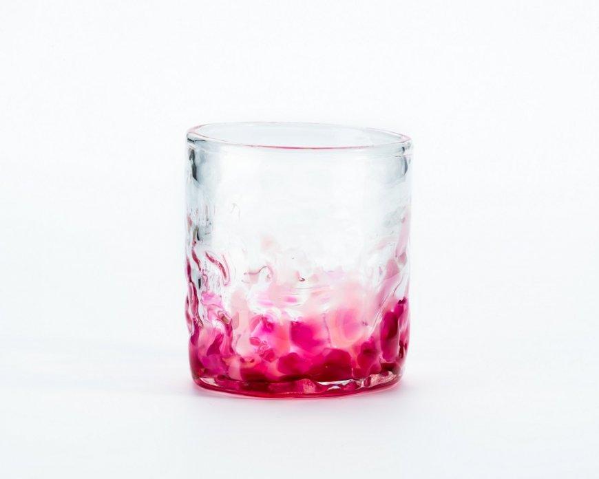 桜花でこぼこグラス 2個セット