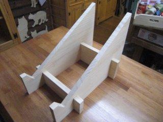 マルシェ用の傾斜台: 1箱用 (Aタイプ)